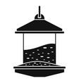bird feeders icon simple style vector image vector image