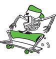 bones grinder vector image vector image
