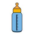 bottle milk baisolated icon vector image vector image