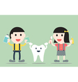 boy and girl with healthy teeth vector image vector image