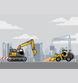 building construction site vector image