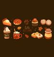 bundle of pumpkin spice flavored sweet food vector image vector image