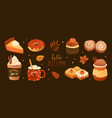 bundle pumpkin spice flavored sweet food vector image vector image