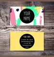 business card template with colorful brushstrokes vector image vector image