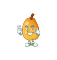 call me fragrant pear cartoon character with vector image vector image