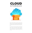 cloud storage banner vector image