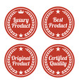 collection of red flat badges vector image vector image