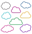 Colorful cloud outlines collection vector image vector image