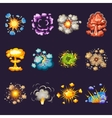 Comic Explosions Decorative Icons Set vector image vector image