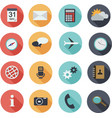 design flat icons for web and mobile vector image vector image