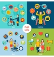 Disabled Life Set vector image vector image