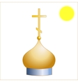 Dome of the Christian church vector image