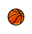doodle a basket ball vector image vector image