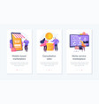 e-commerce marketplace app interface template vector image vector image