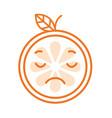 emoji - sad orange feeling like crying isolated vector image vector image