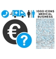 Euro Status Icon with 1000 Medical Business vector image vector image