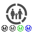 family diagram flat icon vector image vector image