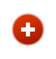 first aid medical sign in circle flat icon for vector image vector image