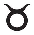 flat black taurus sign icon vector image vector image