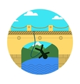 Flat icon for extreme sport Rope jumping vector image vector image