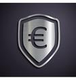Flat metallic logo euro vector image vector image