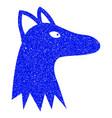 fox head grunge icon vector image