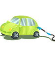 fueling a car with gasoline vector image vector image
