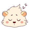 funny cavy with eyes closed asleep emoticons vector image