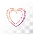 gradient heart vector image vector image