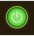 Green neon button vector image vector image