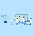 group medical technicians in a laboratory vector image vector image