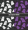 halloween seamless pattern with cute cartoon vector image vector image