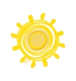 Hand drawn sun picture vector image