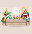 happy family celebrating christmas vector image