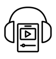 headphone icon design vector image vector image