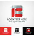 hi-tech trendy initial icon logo b vector image