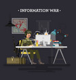 information war vector image