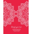 Invitation card with lace ornament 2