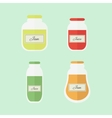Jam and juice isolated flat elements vector image vector image