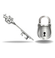Key and lock vector image