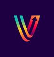 Letter v logo with arrow inside