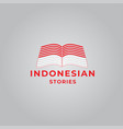 logo indonesian stories on light background vector image vector image