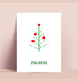 minimalistic christmas card or poster design vector image vector image
