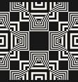 modern black and white geometric seamless pattern vector image