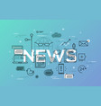 modern thin line design concept for news website vector image vector image
