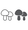 mushroom line and glyph icon food vector image vector image