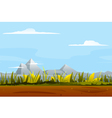 Nature Game Background Landscape vector image vector image