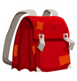 Old schoolbag with marks vector image
