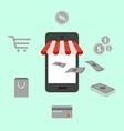 online shopping digital marketing mobile smart pho vector image