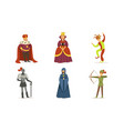people different classes in medieval clothes vector image vector image